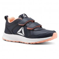Reebok ALMOTIO 4.0 Running Shoes Girls Col Navy/Dgtl Pnk/Slvr Met (467QHBXZ)