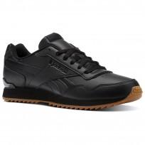 Reebok Royal Glide Shoes Mens Black/Gum (472CKEOH)