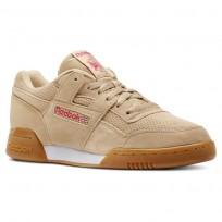 Reebok Workout Plus Shoes Mens Spg/Sahara/Twisted Pink/White/Gum (476JFRTZ)