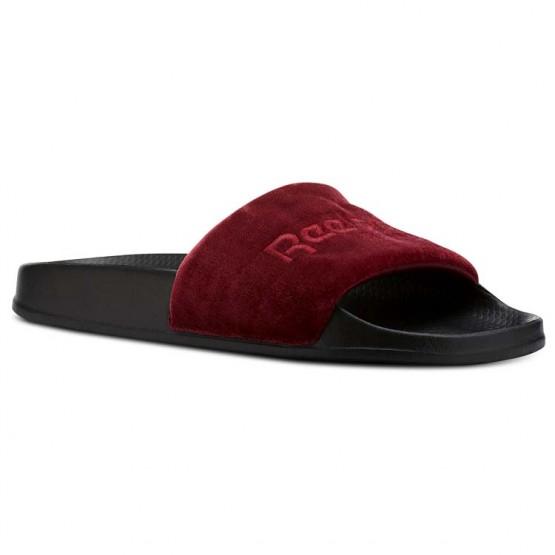 Reebok Classic Slide Shoes Mens Coll Burgundy/Cranbery Red/Black/White/Velvet (478ATMYJ)