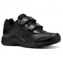 Reebok Walk Walking Shoes Mens Black/Black (480WTAIY)