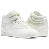 Reebok Freestyle HI Shoes Womens Chalk/Chalk (481FYRZO)