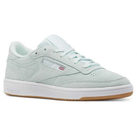 Reebok Club C 85 Shoes Womens Premim Basic 3-Mist/Gum/White (486DJLCX)