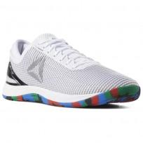 Reebok CrossFit Nano Shoes Mens White/Pure Silver (488AIJGV)