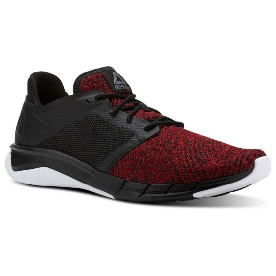 Reebok Print Running Shoes Mens Black/Primal Red/White (488ASWHV)