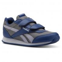 Chaussure Reebok Royal Classic Jogger Enfant Bleu/Grise (492BXUWI)