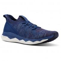 Reebok Floatride RS ULTK Running Shoes Mens Bnkr Blue/Rstc Wne/Blue Slte/Skl Gry/Col Navy (492DNMVI)