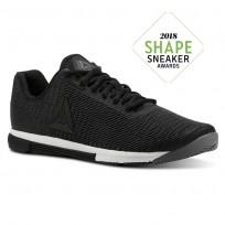 Reebok Speed Training Shoes Mens Shark/Black/Chalk (493QWHYD)
