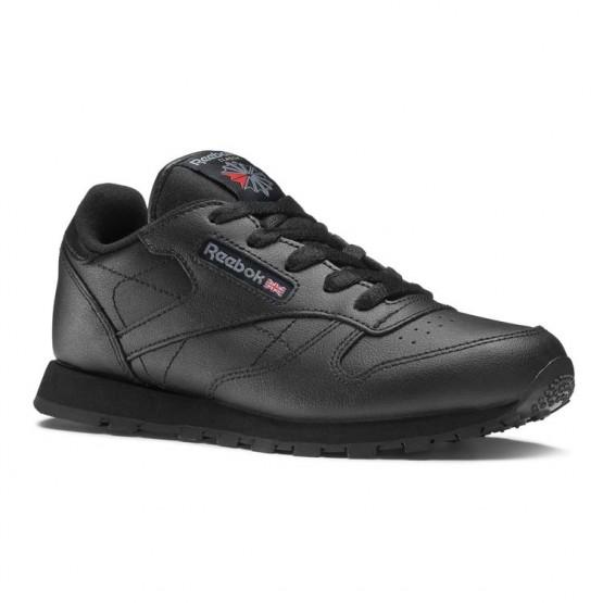 Chaussure Reebok Classic Leather Enfant Noir (496QZIDL)