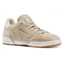 Reebok NPC II Shoes Womens Beige/Oatmeal/Chalk/Paperwhite (499KLVFT)
