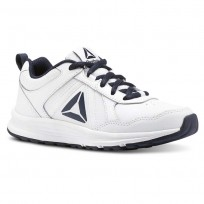 Reebok ALMOTIO 4.0 Running Shoes Kids White/Col Navy/Pewter (499OWQJG)
