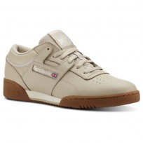 Reebok Workout Clean Shoes Mens Trc-Parchment/Chalk/Gum (500FBRYG)