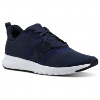 Reebok Print Running Shoes Mens Collegiate Navy/Black/Skull Grey/White (500MGXFJ)