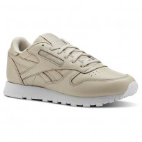 Chaussure Reebok Classic Leather Femme Blanche (502WYXHM)