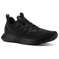 Reebok Fusion Flexweave Running Shoes Mens Black/Ash Grey/Coal/White (506TKMFW)