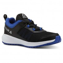 Reebok Road Supreme Running Shoes For Boys Black/Blue/White (507YFQLD)
