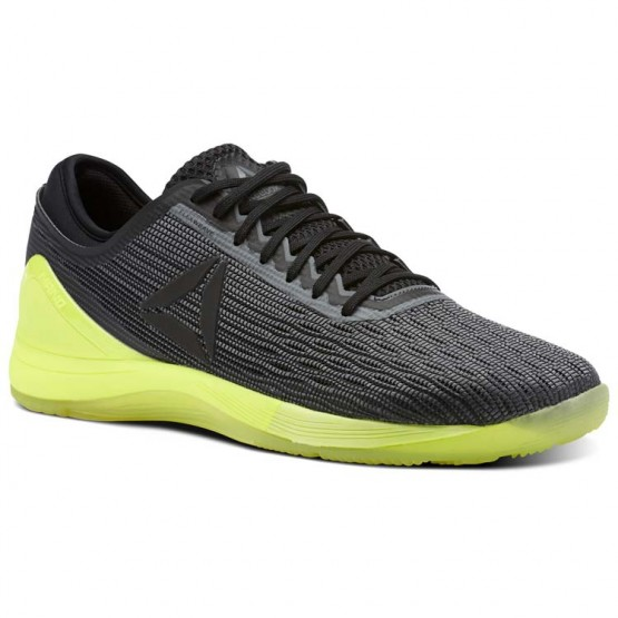Reebok CrossFit Nano Shoes Mens Alloy/Black/Solar Yellow (508ADHRY)