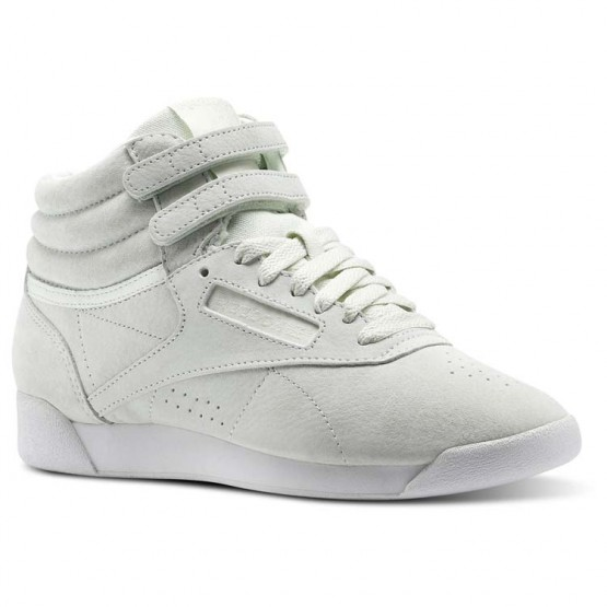 Reebok Freestyle HI Shoes Womens Blue/Opal/White (511ZHODG)