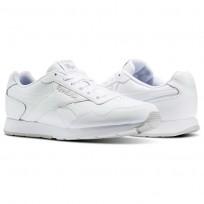 Reebok Royal Glide Shoes Mens White/Steel/Reebok Royal (519BEGPL)