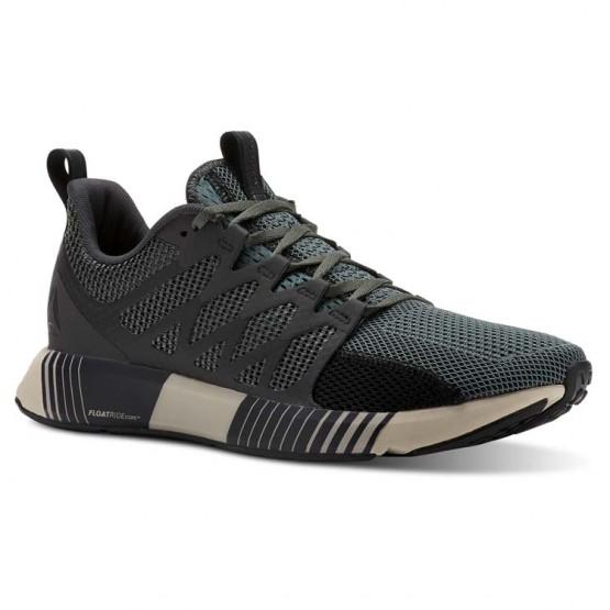 reebok fusion flexweave cage παπουτσια για τρεξιμο ανδρικα πρασινο/μαυρα (522rswib)