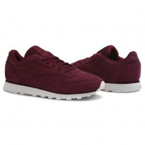 Reebok Classic Leather Shoes Womens Enh-Rustic Wine/Chalk (523GEXLB)