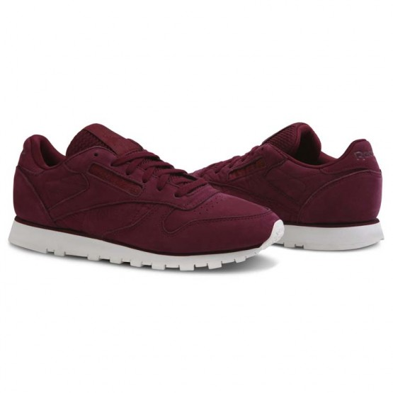 Chaussure Reebok Classic Leather Femme Rouge Foncé (523GEXLB)