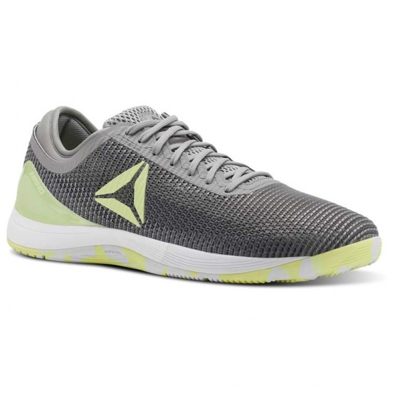 Reebok CrossFit Nano Shoes Mens Tin Greyshark//Lemon Zest/Ash Grey/White (524FEBQI)