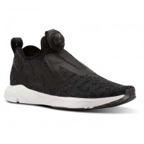 Reebok Pump Supreme Running Shoes Mens Ice-Black/Ash Grey/White (526QIFKE)