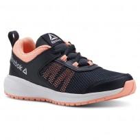 Reebok Road Supreme Running Shoes Girls Coll Navy/Digital Pink/Wht/Silver (528OGZLV)