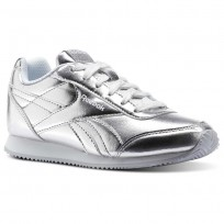 Chaussure Reebok Royal Classic Jogger Fille Argent Metal/Blanche (529AQRMX)