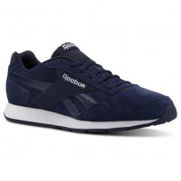 Reebok Royal Glide Shoes Mens Collegiate Navy/White/Suede (531PQULD)
