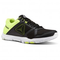 Reebok YourFlex Train 10 Training Shoes Mens Black/Solar Yellow/White (532RQMNI)