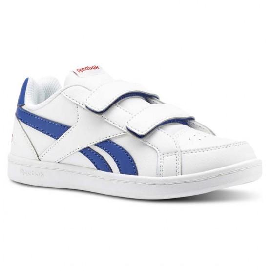 Reebok Royal Prime Shoes Kids White/Collegiate Royal/Primal Red (535ODXJI)