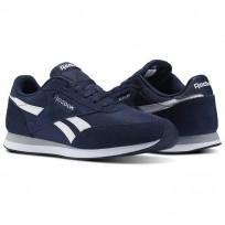Reebok Royal Classic Jogger Shoes Mens Collegiate Navy/White/Baseball Grey (537NKYLM)