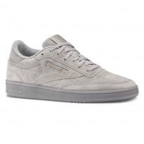 Reebok Club C 85 Shoes Womens Powder Grey/Rose Gold (538JPCAF)