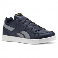 Reebok Royal Prime Shoes Boys Collegiate Navy/Flint Grey/Fierce Gold (541BROAP)