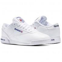 Reebok Ex-O-Fit Shoes Mens Intense White/Royal Blue/Royal Blue (547JFGYX)