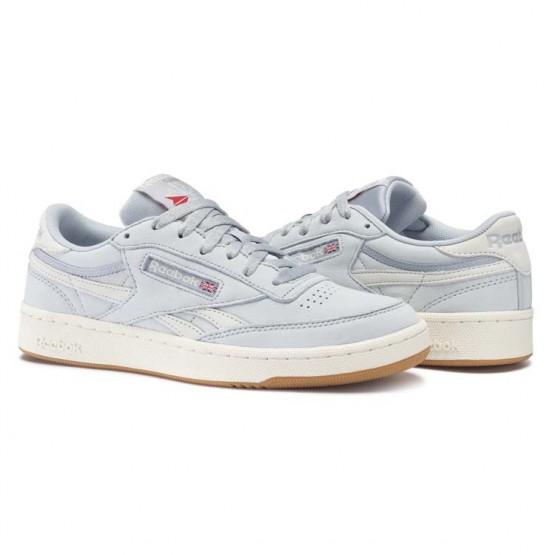 Reebok Revenge Plus Shoes Mens Cloud Grey/Chalk/Excellent Red/Gum (550WPLBE)