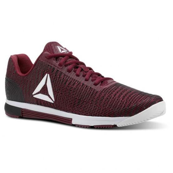 Reebok Speed Training Shoes Mens Rustic Wine/Black/Spirit White/Atomic Red (550ZQKWT)