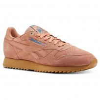 Chaussure Reebok Classic Leather Homme Abricot/Turquoise (551IHFGZ)