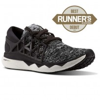 Reebok Custom Floatride Run Running Shoes Womens Black/Coal/White (555AEPQO)