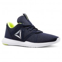 Reebok Reago Training Shoes Mens Col Navy/Blk/Wht/Solar Yellow/Cloud Gry (557BRGKZ)