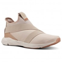 Reebok Supreme Strap Running Shoes Mens Face-Bare Bge/Bare Brwn/Mn Wht/Mars Dust/Chlk (559UIBWA)