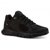 Reebok Sawcut Walking Shoes Womens Black/Ash Grey/Industrial Green (560DYZNC)