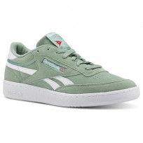Reebok Revenge Plus Shoes Mens Estl- Industrial Green/White (560JZKRE)