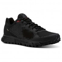 Reebok Sawcut Walking Shoes Mens Black/Ash Grey/Primal Red (560UMHYL)