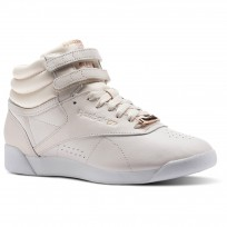 Reebok Freestyle HI Shoes Womens Pale Pink/White/Cool Shadow (560ZGJXP)