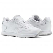 Reebok Royal Glide Shoes Womens White/Steel/Reebok Royal (562CPJIO)