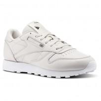 Buty Reebok Classic Leather Damskie Białe/Fioletowe/Białe/Czarne (562RCAMX)