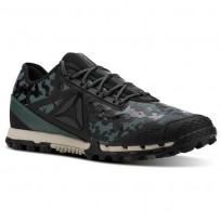 Reebok AT SUPER 3.0 Running Shoes Mens Camo-Black/Alloy/Chalk Green/Parchment (563NSCDV)